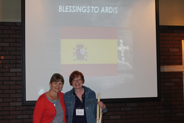 Ardis is commissioned by Pastor Sharon Anderson and others at CR for the mission to France & Spain.