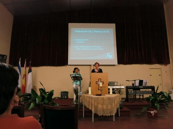 Teaching at the CR seminar in Rivas, Spain.