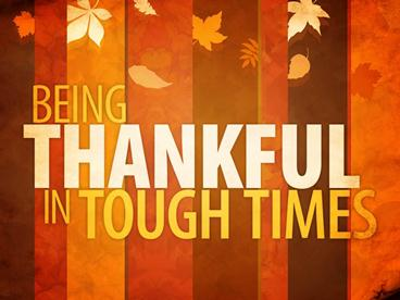 thankful in touch times