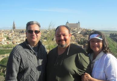 Pastor Josh Fajardo with new missionaries to Spain, José and Ada Hernández.